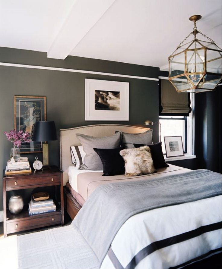 BROWN MODERN NIGHTSTAND | Mixing in color and texture bring warmth to a bed and make it feel inviting | http://masterbedroomideas.eu/ #interiordesign