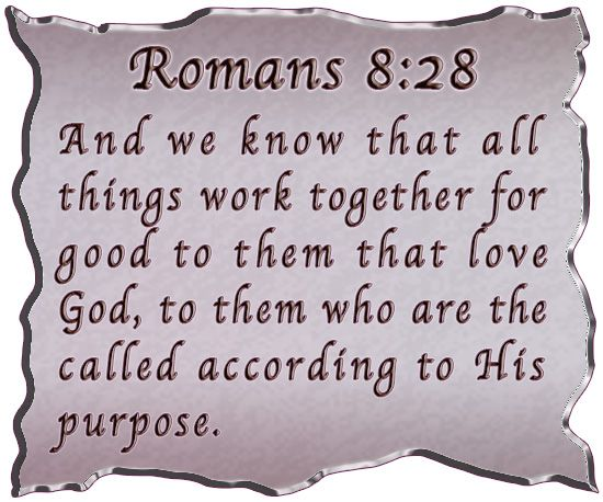 Bible Verses For Encouragement | 28: And we know that God causes everything to work together for the ...