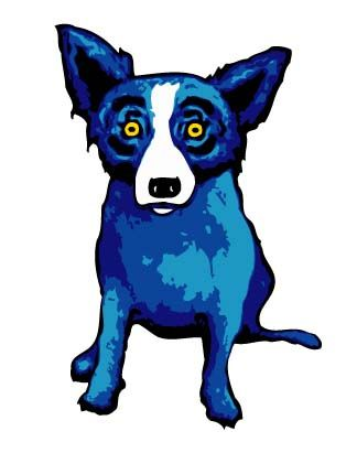 "Blue Dog   George Rodrigue.- A Great Example For The Art Call: ""Animals"" - Wild, Domestic, On Land, In The Air or Under The Sea. $7,750 in Cash & Prizes - Deadline: December 15, 2014  (Midnight EST) -www.Art-Competition.net"
