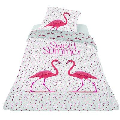 parure de lit et housse de couette pour 1 personne pink. Black Bedroom Furniture Sets. Home Design Ideas