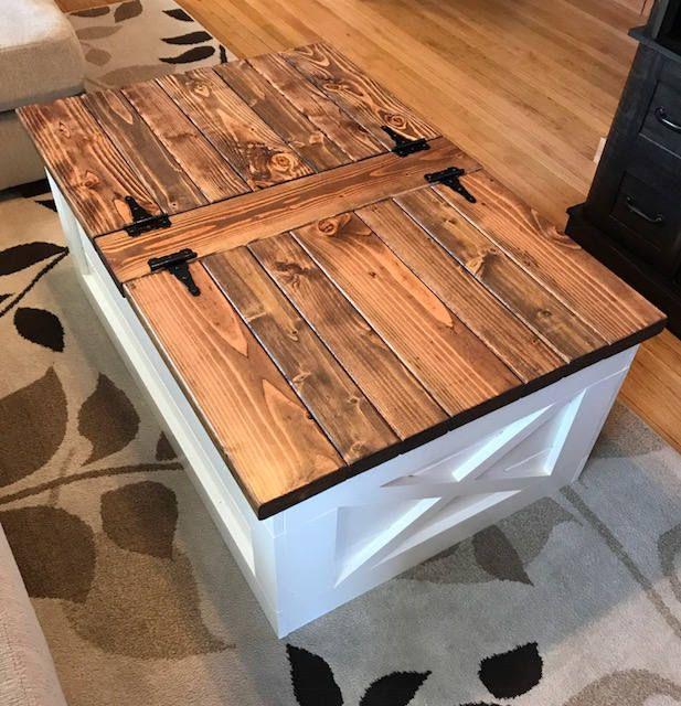 Farmhouse Storage Coffee Table Free Shipping Etsy Coffee Table