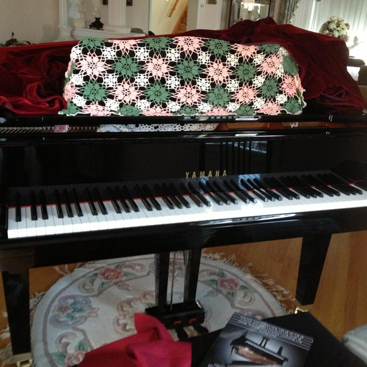 On a Sunday afternoon you'll find Tiana at her piano (if she has time!)