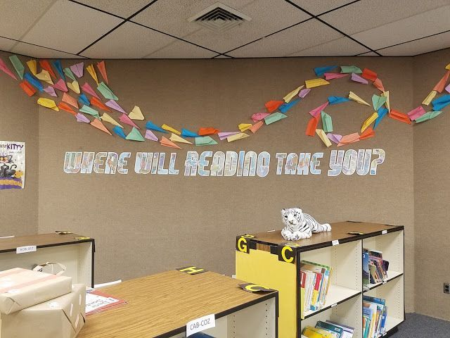 School Library Decor: Where Will Reading Take You? (with a free printable!)