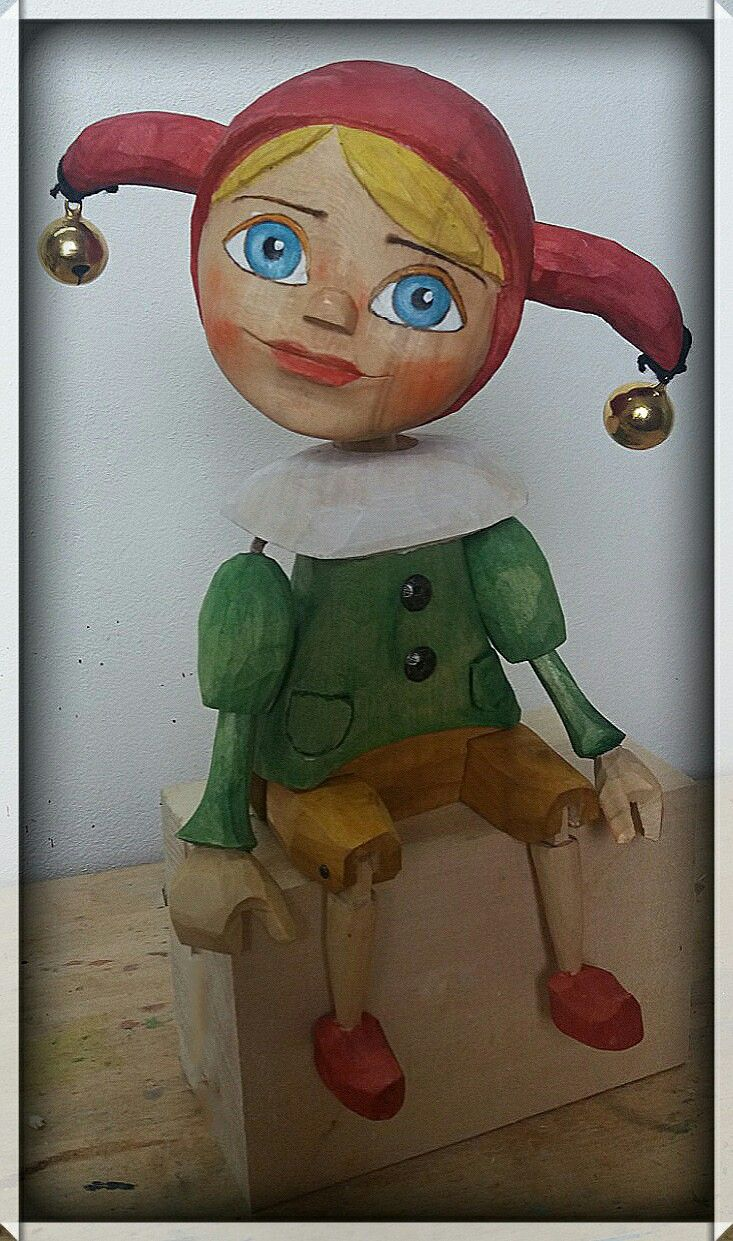 Jester woodcarving,loutka,puppet   was born 2018