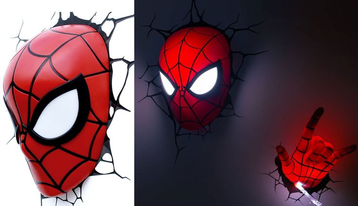 3D Deco Light Spiderman - Best Wallpaper HD