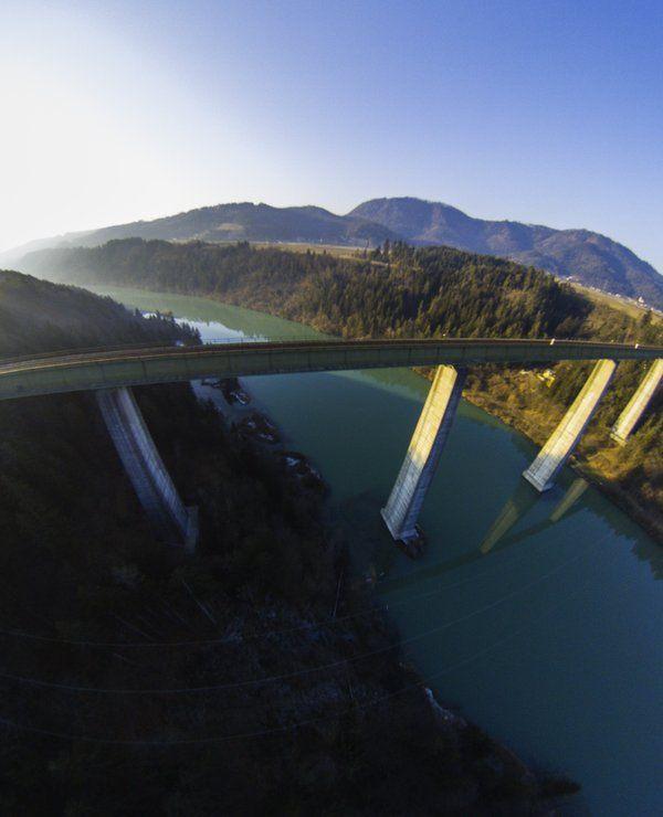 highest railway bridge in europe: carinthia, austria
