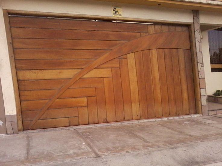Porton de madera portones de madera pinterest for Puertas de madera para garage