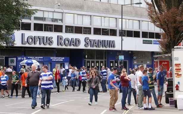 Fans outside Loftus Road for Queens Park Rangers vs Birmingham City