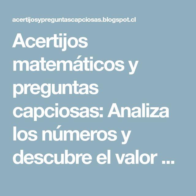 Acertijos matemáticos y preguntas capciosas: Analiza los números y descubre el valor del 4