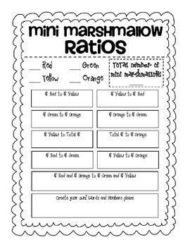 mini marshmallow ratios freebie ratios rates proportions grade 6 math sixth grade. Black Bedroom Furniture Sets. Home Design Ideas