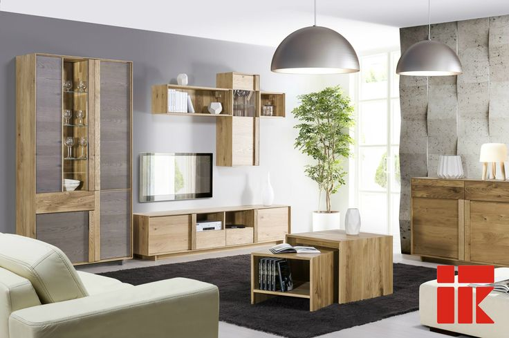Modern style, natural colours and materials.  #scandinavianstyle #livingroom #KloseFurniture
