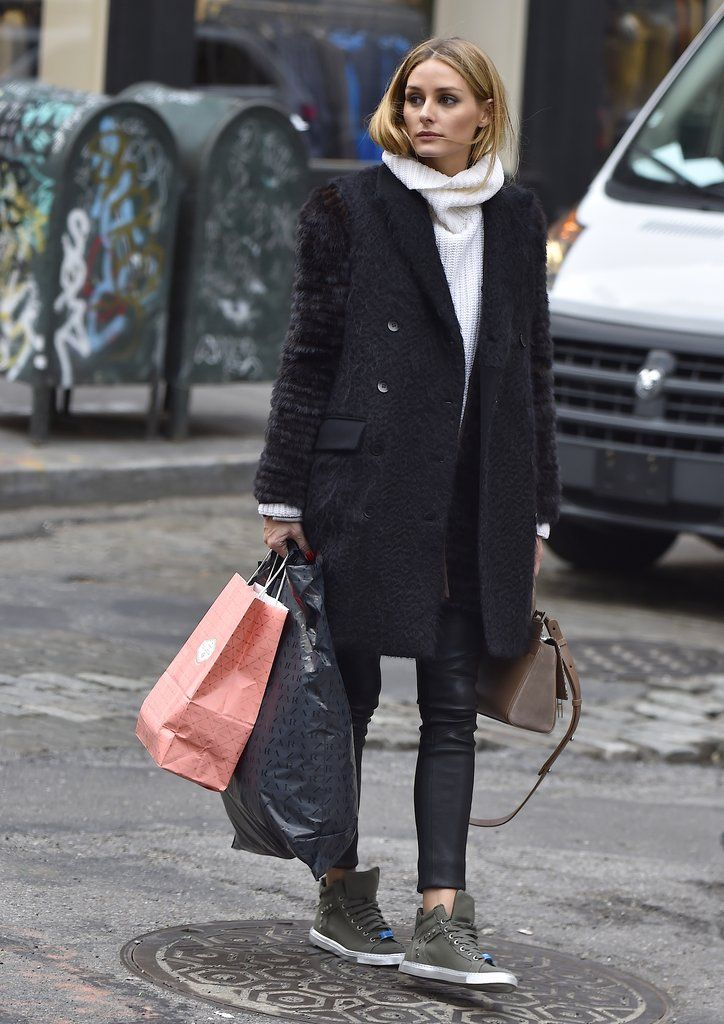 Olivia Palermo teaches you how to wear cool-girl sneakers.