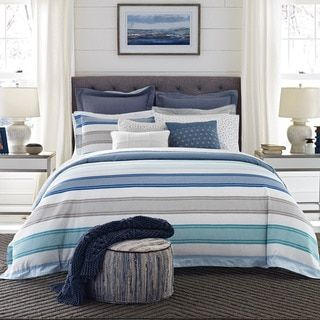 Shop for Tommy Hilfiger Westbourne White and Blue Stripe 3-Piece Comforter Set. Get free shipping at Overstock.com - Your Online Fashion Bedding Outlet Store! Get 5% in rewards with Club O! - 21212845