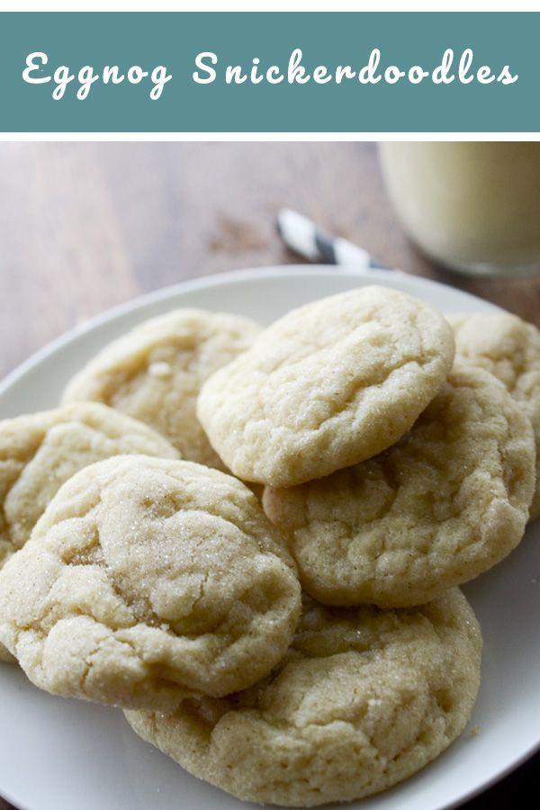 Holiday Eggnog Snickerdoodles Recipe Deliciousness Christmas
