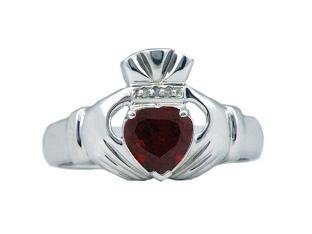Diamond and Garnet  Claddagh Ring- Go Irish people!! Yes, I'm Irish. And, this ring looks very similar to my Claddagh Ring.