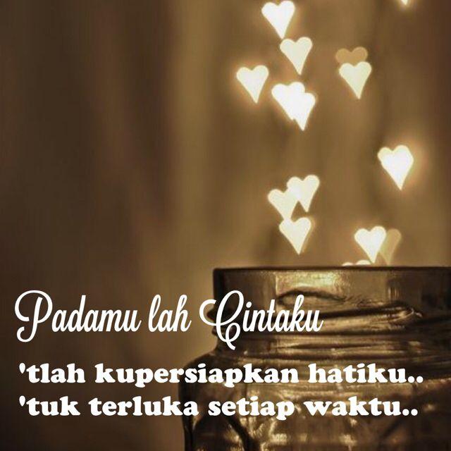 puisi Padamu lah Cintaku