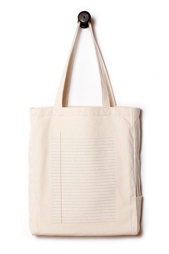 【文具控】筆記條紋袋。隨手記下大小事。帆布包/日用袋 - 1day1bag | Pinkoi