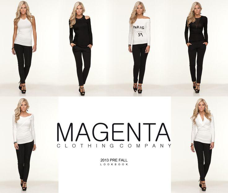 2013 PREFALL LOOKBOOK #fashion #lookbook #prefall #magenta #magentafashion #blacknwhite #black #womenfashion