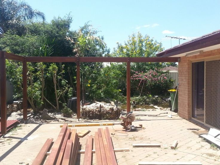 Footings and main beams in