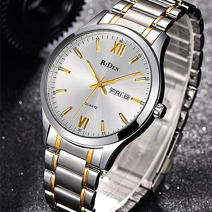 BiDen Luxury Mens Business Watch  Bling up your daily look with this Biden Luxury Men's Watch. Its Hardlex dial window is superior and impact resistance and its stainless steel band is very durable. It has functional features like an auto date and a calendar.