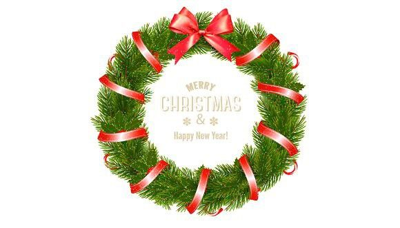 Christmas Tree Wreath Vector Christmas Tree Wreath Christmas Tree Christmas