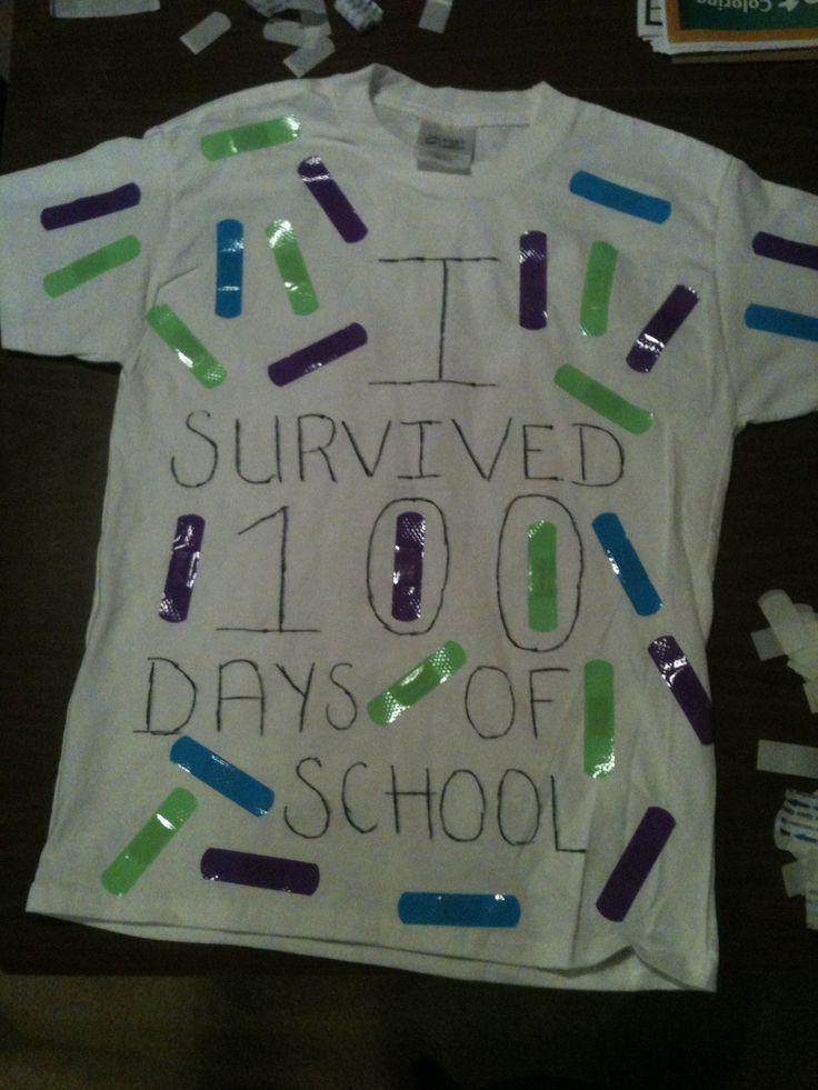 100 days of school idea shirt we made yesterday
