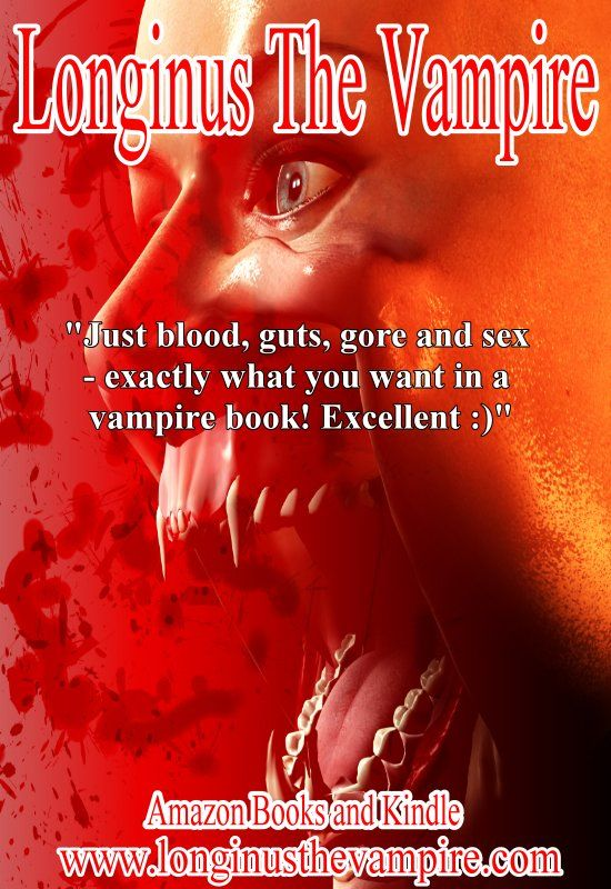 "Longinus The Vampire: Redemption  5 Stars  ""Absolutely loved this book! There were no sparkles, no magic daylight rings... Just blood, guts, gore and sex - exactly what you want in a vampire book! Excellent :)""  Amazon books and Kindle  www.longinusthevampire.com  #vampires #demons #horror #sexy"