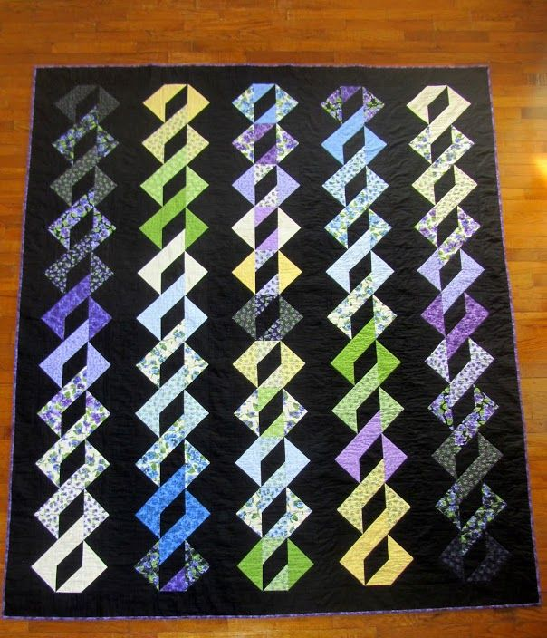 12 best DNA or Pole Twist Quilt Pattern images on Pinterest ... : cool quilt patterns - Adamdwight.com