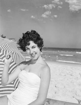 A Christmas Day picnic on Bondi beach, 1958, National Archives of Australia, L28738