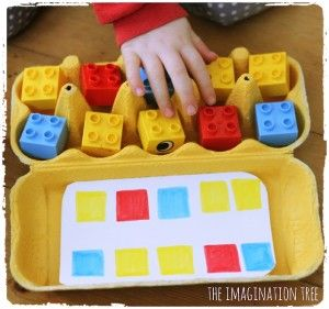 Use egg cartons, homemade pattern cards and everyday toys to create some playful invitations to make patterns. Great for home or preschool with 3 year olds to school age children as a fun way to learn about pattern making, sequencing and matching by colour and shape!