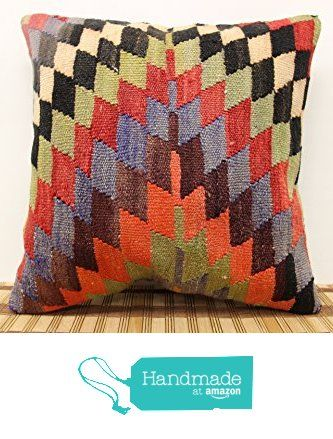 Bohemian kilim pillow cover 16x16 inch (40x40 cm) Oriental Kilim pillow cover Home Decor Natural Pillow cover Cushion Cover from Kilimwarehouse http://www.amazon.com/dp/B019IVEOF8/ref=hnd_sw_r_pi_dp_D2rDwb04CRHXA #handmadeatamazon