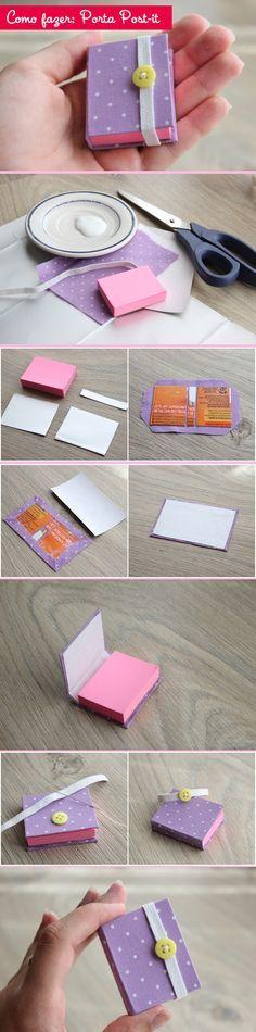 Schachtel für Klebezetel