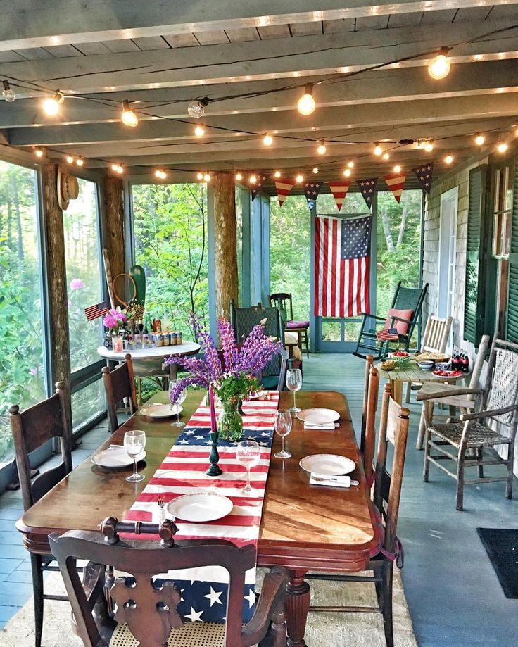 Pottery Barn Porch Ideas For Spring: Sarah Vickers 4th Of July With Pottery Barn