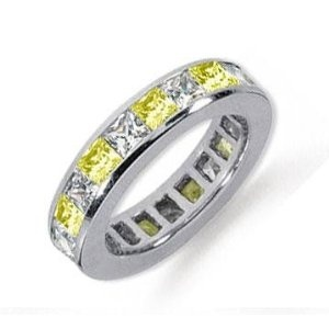 anniversary band?!!!! it would match and i love the yellow!: Anniversaries Band, Random Things, Carat Yellow, Eternity Bands, Yellow Sapphire, Anniversary Bands, Diamonds Rings, Diamonds Platinum