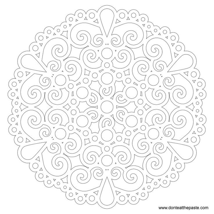 Dont Eat The Paste Easy Jeweled Mandala To Color