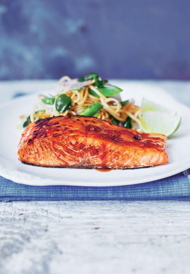 Salmon with Watercress Udon   Asda Good Living