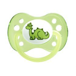 DODIE Sucette + 6 mois Silicone Anatomique Embout Rond Dinosaure - 1 unité - Fille - dodie - 2.99€
