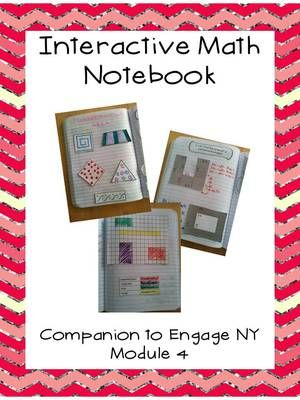 """Third Grade Interactive Math Notebook and Teacher Resources: Engage NY Module 4 from Cate ODonnell on TeachersNotebook.com -  (65 pages)  - A companion to Engage New York Grade 3, Module 4, this product includes """"foldables"""" for Interactive Notebooks, teacher planning pages, and extra exit tickets for every lesson."""