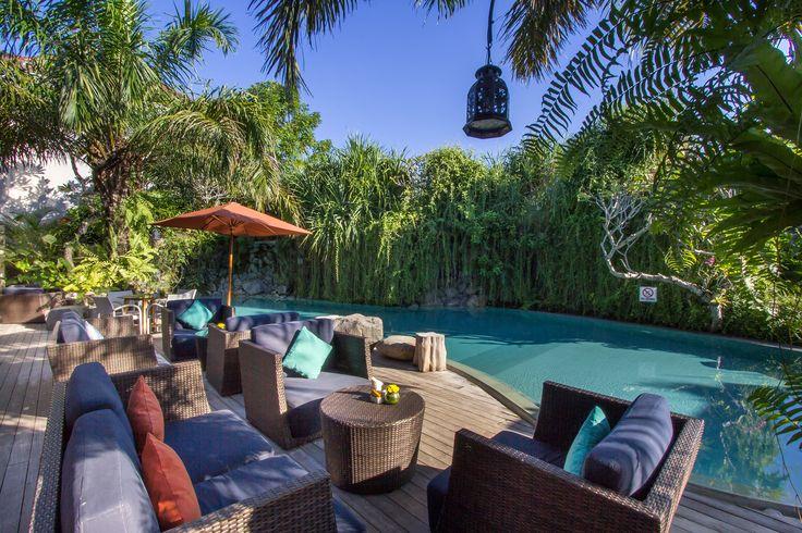 Chilling on the pool side at Mase Kitchen & Wine Bar Petitenget Seminyak..