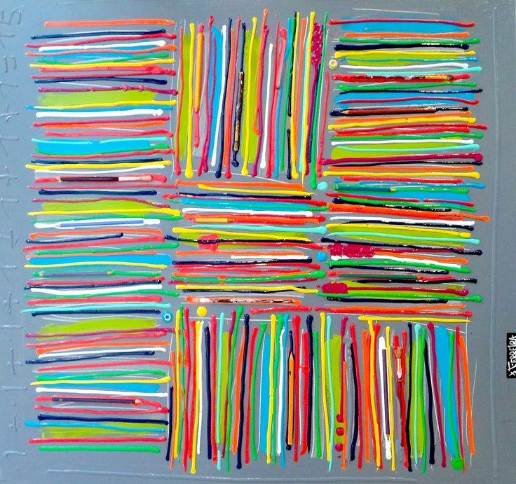 Crayonnade : Technique mixte sur toile