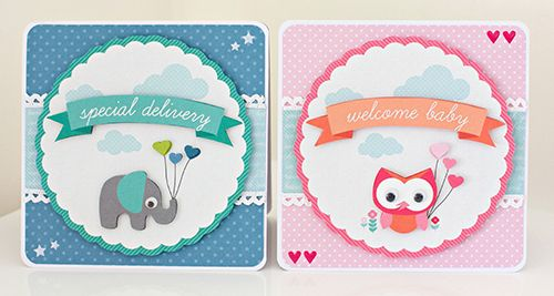 """""""Special-Delivery"""" Card Set by Alicia McNamara Kaisercraft Design Team using 'Little One' collection - Wendy Schultz ~ Baby Cards."""