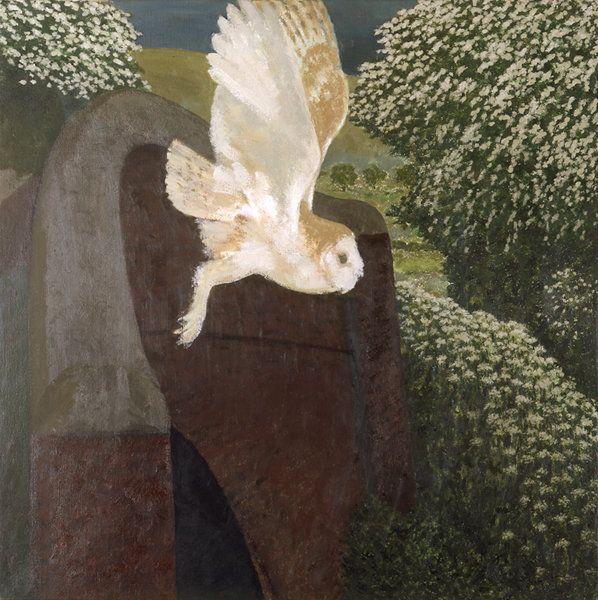 David Inshaw - Barn Owl at Stanton Bridge, England, 1994-95