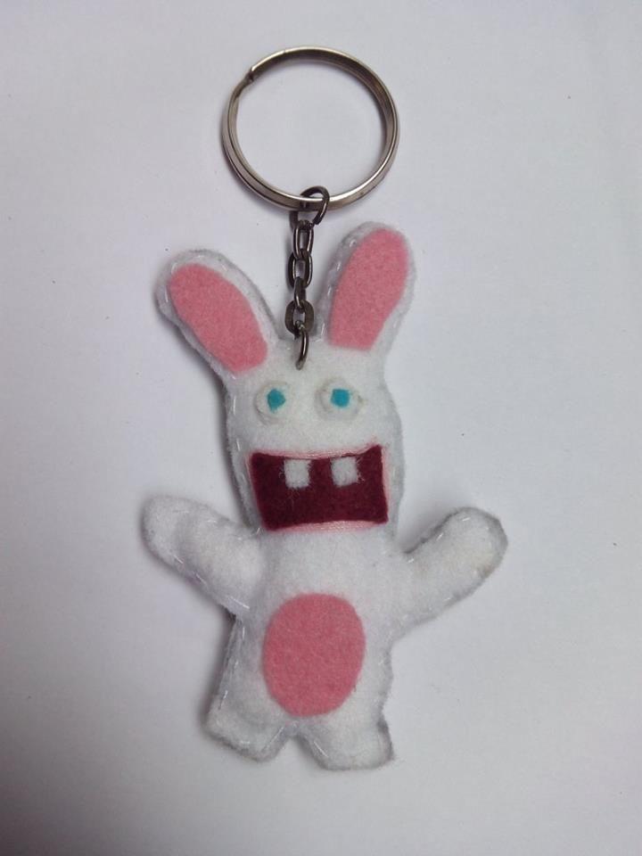 Llavero Rayman Rabbits fieltro https://www.facebook.com/complementosaliehs/