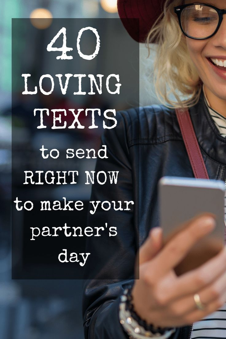Sample loving texts to make your spouse smile, including thinking of you texts, sappy texts, intimate texts, apology texts and humorous texts.