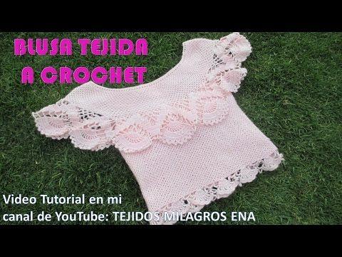 Blusas tejidas a crochet y salida de alberca tejido a crochet - TEJIDOS MILAGROS ENA - YouTube
