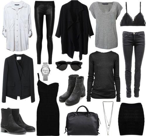 Grijs-zwart + garderobe