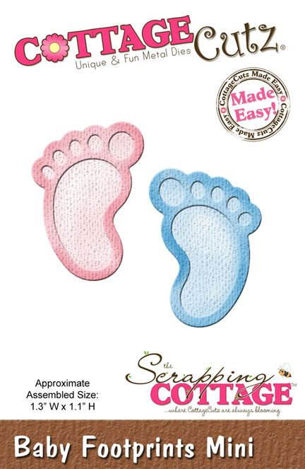 CottageCutz Baby Footprints Mini