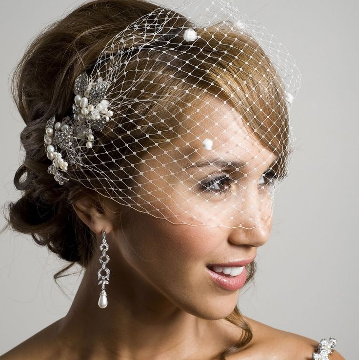 For the bespoke bride, a visor veil. By Wendy Louise Designs