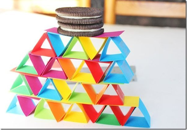 Building with Paper Shapes STEM Activity - what a fun, hands on activity for preschool, kindergarten, and elementary age kids