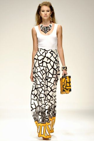 graphic palazzo pants by Holly Fulton S/S 2011